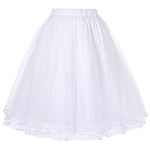 Belle Poque Retro Xmas Dress Petticoat 25 Length Underskirt White S
