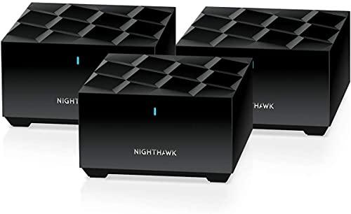 NETGEAR Système WiFi 6 Mesh Nighthawk (MK63) – Routeur WiFi 6 AX1800 pack de 3 pour un wifi partout dans la maison, WiFi plus performant que votre box, Couvre Jusqu à 350m² et plus de 60 Appareils