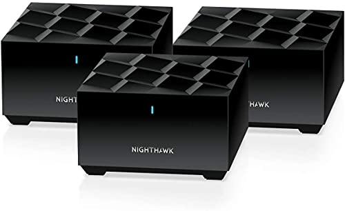 Netgear Nighthawk Whole Home Mesh WiFi 6 System (MK63) - AX1800 Router with 2 Satellite Extender, Coverage up to 4,500 sq. ft. and 25+ Devices, MK63