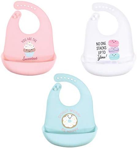 Hudson Baby Unisex Baby Silicone Bibs Sweetest Cupcake One Size product image