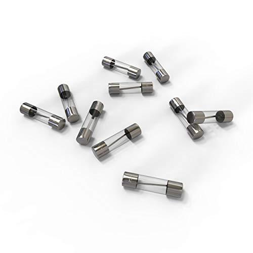 AUPROTEC Glassicherung 5x20mm Feinsicherung 1A - 20A Schmelzsicherung Auswahl: 15A Ampere, 10 Stück