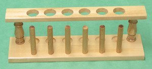 SEOH Test Tube and Drying Rack Wooden for 6 Tubes 25mm