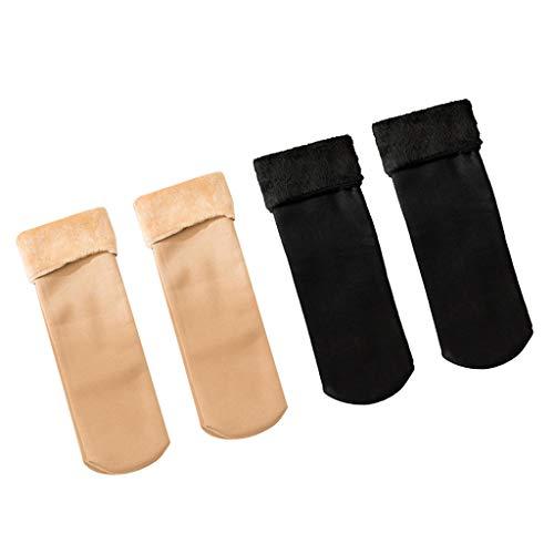 non-brand 2 Pares de Calcetines de Tobillo de Felpa para Mujer, Botas Gruesas, Calcetines Cómodos para Dormir en El Piso de La Casa