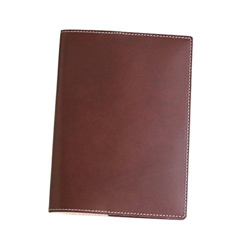 (ブラン・クチュール)BlancCouture 本革手帳カバー「A5サイズ」ノートカバー/国産フルタンニンドレザー(チョコレート)