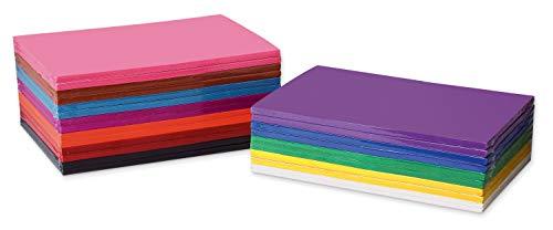 SunWorks Construction Paper Sampler, 12 Assorted Colors, 12' x 18', 1,200 Sheets