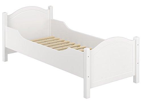 Erst-Holz® Seniorenbett extra hoch Rollrost 100x200 Massivholz Holzbett Einzelbett Gästebett 60.40-10WFL