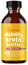 Zesty Paws Hip & Joint Mobility Bone Broth for Dogs - with Glucosamine HCl, Chondroitin Sulfate & Advanced MSM - for Healthy Hips & Joints + Collagen Support - Chicken Broth Booster - 2 fl oz