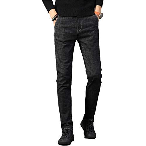 Pantalones Vaqueros para Hombre Primavera Fina Nueva elástica Slim-fit Skinny Casual Denim Pantalones Regular-fit Jeans Trend 28