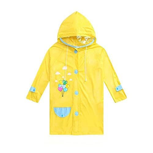 Ponchos de lluvia con capucha para niños y niñas, impermeable, con capucha, con funda para mochila escolar, ligera y transpirable, A-XXL