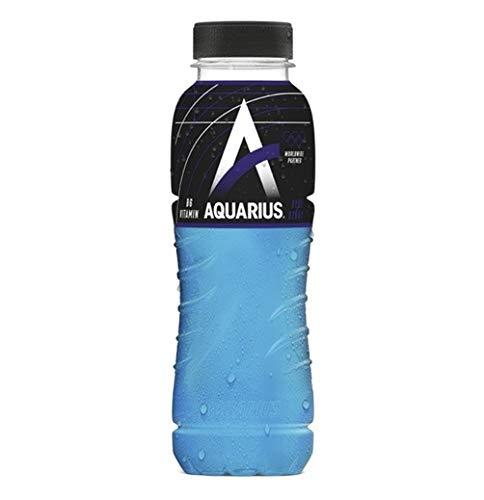 24 x Aquarius Sport Isotonic Blue Ice PET-Flaschen (24 x 0,33 L) EINWEG inkl. gratis FiveStar Kugelschreiber
