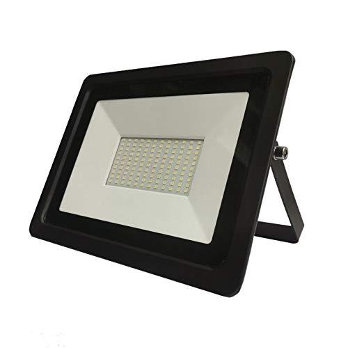 Proyector LED exterior 100 W IP65 negro – blanco frío 6000 K – 8000 K