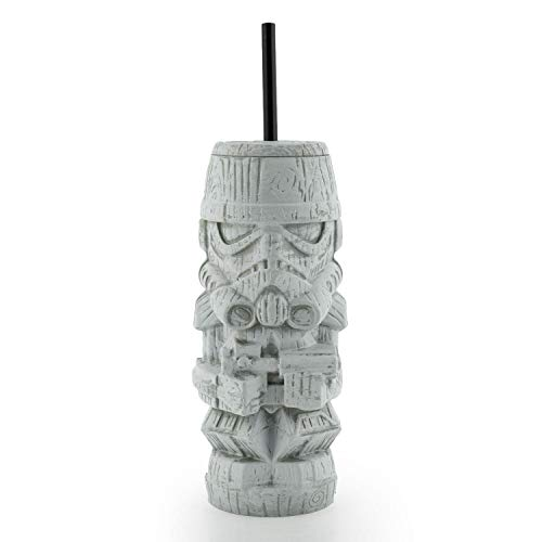 Geeki Tikis Star Wars Stormtrooper Tumbler   Official Star Wars Collectible Plastic Tiki Style Cup   Holds18 Ounces