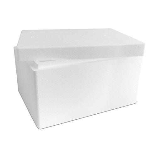 Styroporbox/Thermobox - 21,0 Liter - 44 x 34 x 26 cm/Wandstärke 3 cm - Styrobox