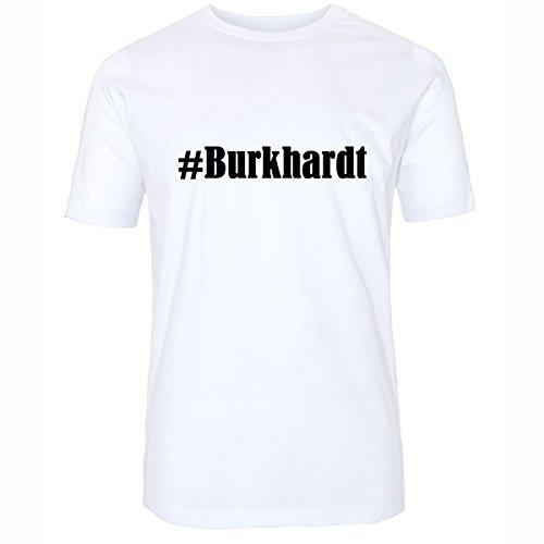 T-Shirt #Burkhardt Größe 4XL Farbe Weiss Druck schwarz