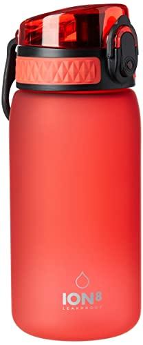 Ion8 Botella Agua Niños Sin Fugas, Sin BPA, Rojo 🔥