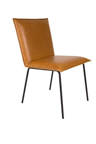 Zuiver FLOKE - Juego de 2 sillas de comedor (piel sintética), color marrón