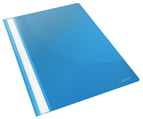 Esselte Carpeta dossier fastener, Plástico, A4, Pack de 25, Capacidad para 160 hojas, Azul VIVIDA, Gama VIVIDA, 28322