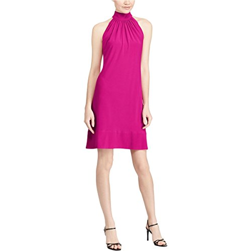 American Living Womens Plus Mock Neck Pleated Cocktail Dress Purple 18