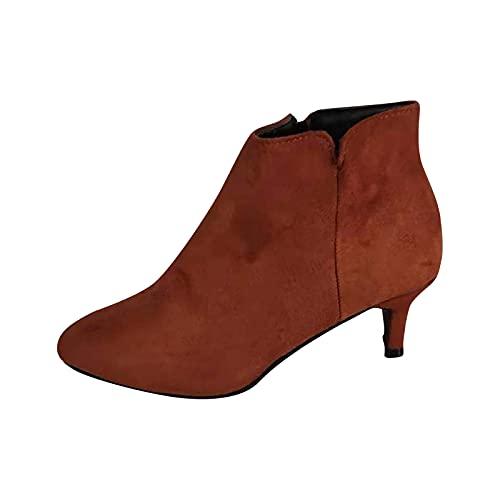 Bottines Femme, Escarpins Talon Aiguille Point Toe Bottes Courtes Talons Sexy Bottines Chelsea Zipper Ankle Boots Chaussure Pas Cher