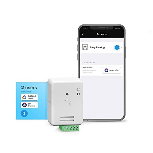Easy Parking Basic. Apertura de la Puerta del Garaje con Móvil por Bluetooth para 2 Usuarios ¡Olvídate De Los Mandos! Compatible con Todas Las Puerta de Garaje. Instalación Fácil y Rápida