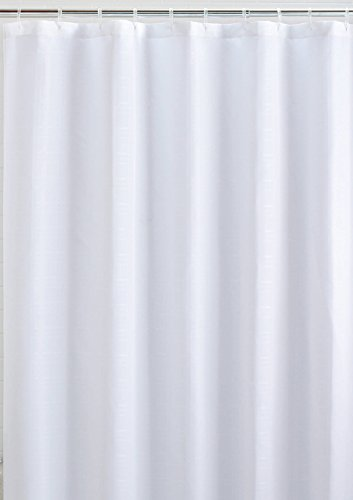 LiBa Mildew Resistant Fabric Shower Curtain and...