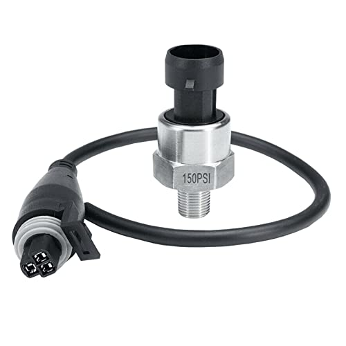 ERDONG Sensor transductor de presión de 150 PSI con cable para agua y combustible de aceite de 1/8 NPT rosca 'en acero inoxidable sensor de presión de acero inoxidable