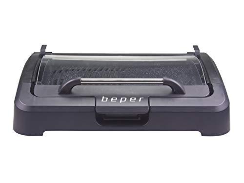 barbecue elettrico con coperchio Beper 90.871 Barbecue Elettrico con Coperchio