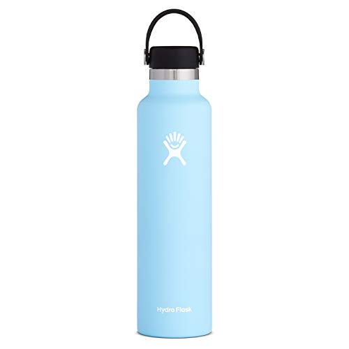 Hydro Flask Standard Mouth Water Bottle, Flex Cap - 24 oz, Frost