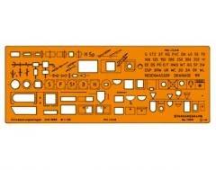 Standardgraph ST7369 - Schablone für Entwässerungsanlagen Maßstab 1:50