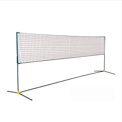 YUOPL Ensemble de Filet de Badminton Portable, Filet de Sport en Nylon à Installation Facile avec poteaux, pour Terrain intérieur ou extérieur, Filet de Plage pour Tennis