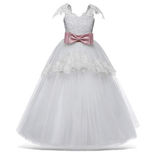 TTYAOVO meisjesjurk prinses bloem jurk kinderen Prom Puffy tule baljurken