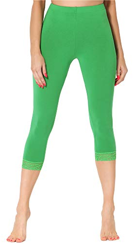 Merry Style Damen 3/4 Leggings MS10-290(Grün, L)