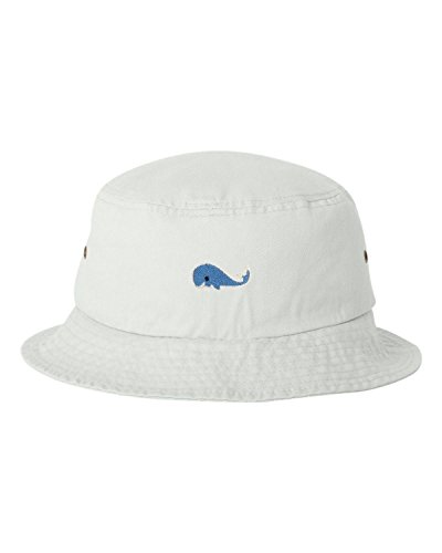 Go All Out One Size White Adult Blue Whale Embroidered Bucket Cap Dad Hat