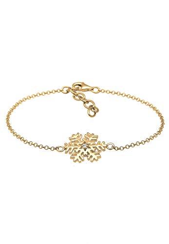 Elli Armband Damen Schneeflocke mit Swarovski® Kristalle Silber