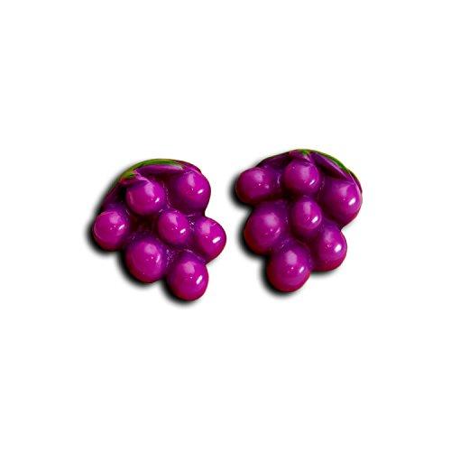 Oorstekers met druiven, fruit, oorringen, druiven, 2 stuks, wijnretro, party, zomer, oorring