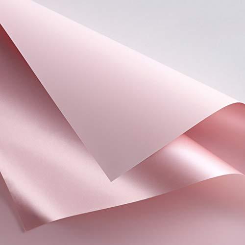 Kang-jz dubbelzijdig dubbelkleurig inpakpapier, waterdicht cadeaupapier achterkleur goud/roségoud 23,62 x 23,62 inch mooi 60 * 60CM D