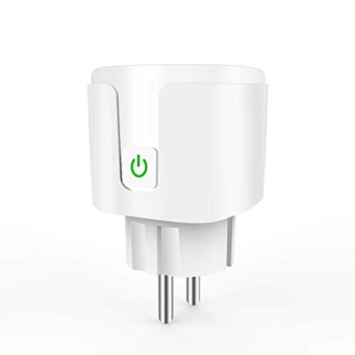 Enchufe inteligente, EU 16A 2.4GHz WiFi Enchufe inteligente, Control de tiempo/voz, Toma de corriente Control remoto Electrodomésticos Funciona con Alexa Google Home, Sin monitor de energía