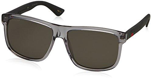 Gucci GG0010S 004 Montures de lunettes, Gris (Grey/Grey), 58 Homme