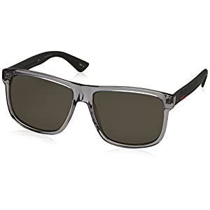Fashion Shopping Gucci GG0010S Grey/Grey One Size