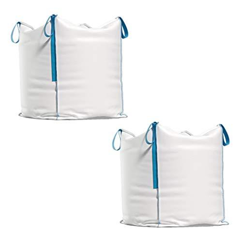 Big Bag - Transportsack für Bauschutt, Holz, Gartenabfall, Sand etc. - 90x90x90 cm, Tragfähigkeit 1000 kg (2)