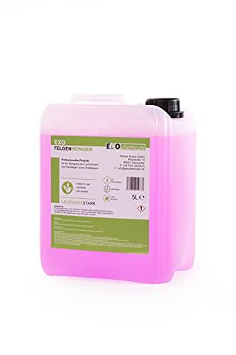 EXOCHEMICALS Felgenreiniger zur Felgenpflege | Professioneller Felgenreiniger für Leichtmetall & Stahlfelgen sowie Radkappen | pH-neutral und säurefrei (5 Liter)
