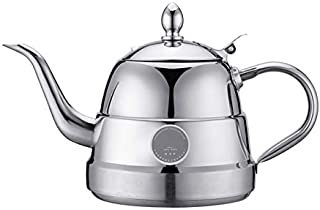 Teapot with Heat Collecting Ring, Stove Top Kettles, Stainless Steel Hob Kettle, Easy To Clean, Making Tea Coffee And Hot Water, Fast Boil, Capacity of 1.5L