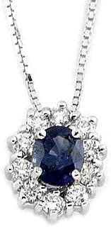 Gems&Gold srl Pendente con Diamanti e Pietre Naturali: Acquamarina, Zaffiro,Smeraldo e Rubino