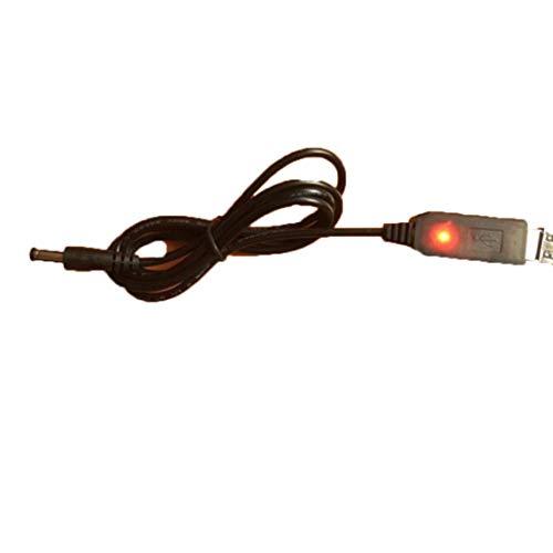 sdfghzsedfgsdfg USB-Boost-Kabel 5 V Schritt bis zu 9 V / 12 V Einstellbarer Spannungswandler Mobiler Stromanschluss Router Recorder-Kabel