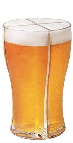 ZoneYan vaso de cerveza 4 en 1, jarra de cerveza acrílicas, súper copas schooner, vaso de cerveza personalizado, jarra de cerveza pinta, Anti-caída, asignación de bebidas para fiestas
