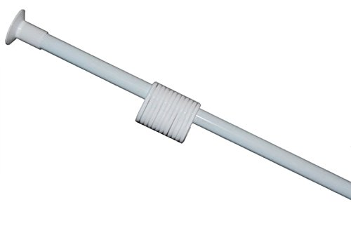 Ekershop DUSCHVORHANG Stange TELESKOPSTANGE DUSCHSTANGE 120-210 cm Weiss inkl. Ringe NEU