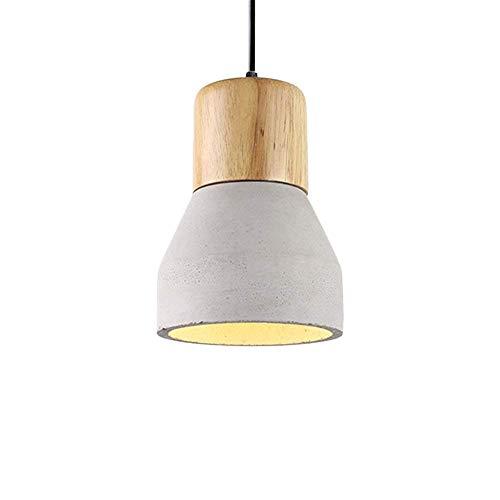 LIBOYUJU Luz de Techo, luz de Techo de Cemento con la Madera...
