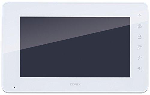 Vimar K40912 Pantalla adicional con teclado capacitivo LCD 7in para kit videoportero de superficie, alimentador con clavijas intercambiables, soporte para instalación de superficie, gris