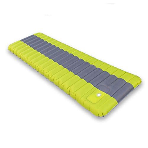 ZXCO Aufblasbar Picknickdecke Stranddecke wasserdichte Ultraleicht Kompakt BBQ, Matratze Camping Nap Pad Outdoor-Matte Stranddecke Gamepad waschbar(Grün)