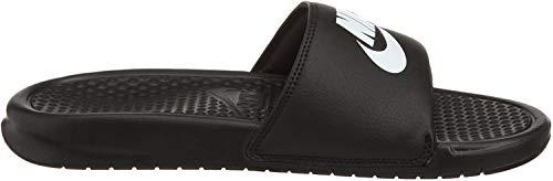 Nike Benassi Blue Scarpe da Spiaggia e Piscina Uomo Nero Bianco 49.5 EU